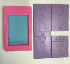 Tomy Fashion Plates 1991 Hasbro Tray Purple Plates Drawing Sketch Girls