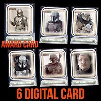 THE MANDALORIAN CHARACTER APRIL 5 CARD SET +AWARD Topps STAR WARS DIGITAL TRADER