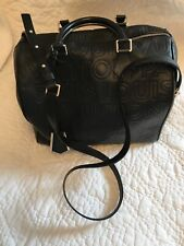 Louis Vuitton Black Leather Logo Speedy Cube 30 Crossbody Shlder Tote Bag M95816