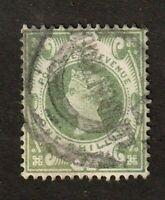 Great Britain stamp #122, used, Queen Victoria, 1 sh. green, wmk. 30, SCV $73
