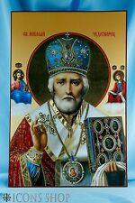 Saint Nicholas Икона Николай Чудотворец Orthodox Icon 30x20Cm