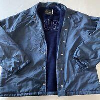 Vintage 60s 70s Champion Auburn University Coaches Jacket Fleece Lined RARE