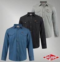Mens Branded Lee Cooper Stylish Soft Touch Cotton Pocket Denim Shirt