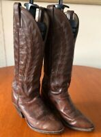 Vintage Ladies Abilene Brown Leather Cowboy Boots USA 6 M UK 3.5