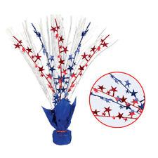 Rojo Azul Estrellas de Plata Spray Centro Mesa Decoración Eeuu 4º Julio Fiesta