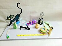 Vintage Mixed Lot of Cats Related Figurines