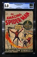 AMAZING SPIDER-MAN # 1 CGC 5.0 - 1st Appearance J Jonah Jameson & Chameleon (IK)