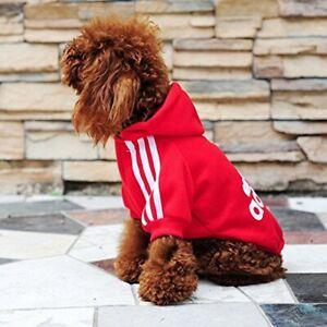 Classic Adidog Pet Dog Warm 4/Legs Hoodie Jumpsuit Puppy Coat Sweatshirt Clothes