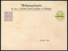 WÜRTTEMBERG 1875, Privatganzsachen-Umschlag Bundes-Schießen, DM 800,-