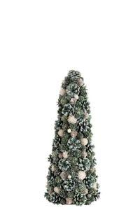 Kegel Zapfen Beeren Weihnachten Grün Rot 50cm Dekoration