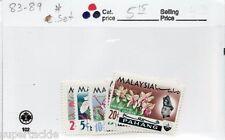 1965 Malaysia Pahang #83-89 * MH Flower & Sultan Abu Bakar stamp set