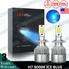 Ice Blue H7 LED Headlight Bulbs for Yamaha YZF-R1 2007-2014/YZF-R6 2013-15 8000K