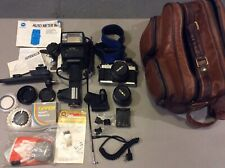 Minolta X-370S 35mm Slr Film Camera And Accessories Not Tested