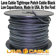 Lava Tightrope BLACK Bulk Cable Per Foot for Guitar Patch Cord Tight Rope NEW