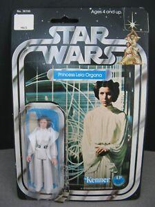 ORIGINAL CARDED first 12 BACK PRINCESS LEIA vintage Star Wars figure Kenner 1977
