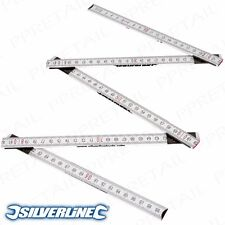 EASY READ 1m LONG FOLDING HARDWOOD RULE METRIC IMPERIAL Markings Metre Ruler