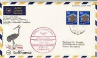 Japan Osaka  to Frankfurt 1969 first flight air mail stamps cover r19781