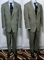 Brooks Brothers Brookscool Poplin Mens Green Cotton 2 Piece Suit 43R 38x29 pants