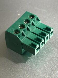Phoenix Contact MC 1,5/ 4-ST-3,81 4 Way Screw Plug PCB Connector 8A 160V 3.81mm