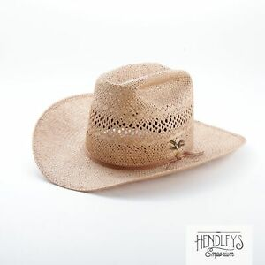 RESISTOL Straw Cowboy Hat 7 1/2 Honey Beige Self Conforming Cattleman Western