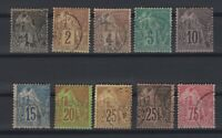 G139430/ FRENCH COLONIES – MAURY # 46 / 54 - 58 USED – CV 175 $
