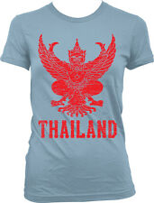 Thailand Symbol Thai Distressed Country Born From Kingdom THA TH Juniors T-Shirt