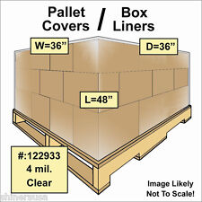 4 mil Pallet Covers / Bin Box Gaylord Liners 36x36x48 Clear Roll/60 122933