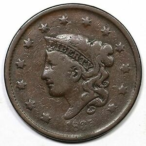 1835 N-19 R-5 Matron or Coronet Head Large Cent Coin 1c