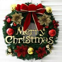 Christmas Wreath Decor For Xmas Home Party Door Wall Garland Flower Ornaments US