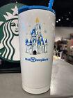 2021 Disney Parks Starbucks Magic Kingdom Cinderella Castle Tumbler Straw  New