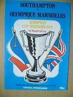 1976 European Cup Winners' Cup 1st RD, 1st Leg- SOUTHAMPTON v OLYMPIQUE MARSEILL