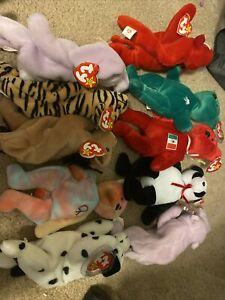 lot of 18 beanie babies