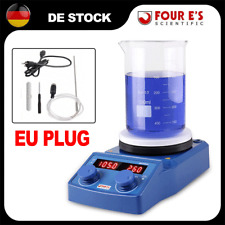 FOUR E'S 5'' LED Magnetrührer Schüttler Keramik Heizplatte mit EU PLUG /DE STOCK