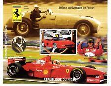 Sellos Michael Schumacher Ferrari 50 Aniversario Enzo Ferrari Republica Niger
