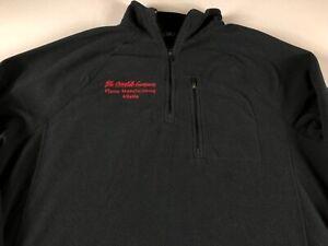 Coca Cola Fleece Jacket Mens Large Coke Employee Flavor Manufacturing Atlanta