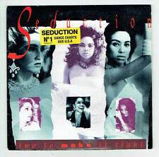 """SEDUCTION Vinyl 45 tours SP 7"""" TWO TO MAKE IT RIGHT N°1 USA  AM 390486-7  RARE"""