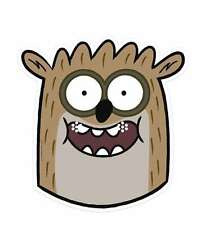 Rigby from The Regular Show (Raccoon) Single CARD Fun Face Mask. Fab for Parties