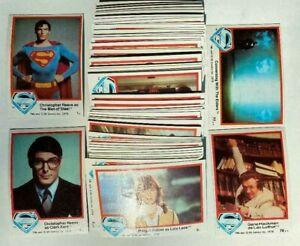Superman 1978 series 1 Complete 77 cards AVG Nrmt or better