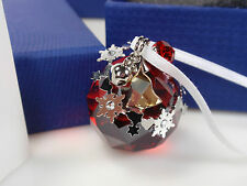SWAROVSKI CHRISTMAS ORNAMENT, LIGHT SIAM SATIN MIB #5155701