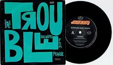 """BACHELORS FROM PRAGUE - TROUBLE - 7"""" 45 VINYL RECORD w PICT SLV - 1989"""