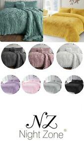Luxury Teddy Bear Fleece  Alaska Duvet Cover Set Cuddles Warm Bedding
