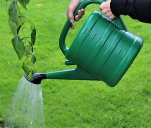Watering Can With Rose - Green 10 Litre 2 Gallons