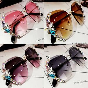 Luxury Bling Rhinestone Diamond Square Sunglasses Women Outdoor Oversized Shades