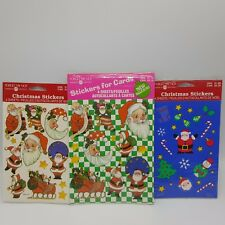 American Greetings Christmas Stickers Santa 3 packs 12 sheets Holiday USA