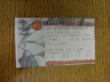 01/10/2002 Ticket: Manchester United v Olympiakos [UEFA Champions League] . Than