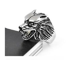 Bague Tete de loup Game Of Thrones House STARK  Taille 66/67