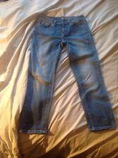 GAP ladies 3/4 Capri Light Blue Jean 24w UK 8 Good Used Cond Bargain!