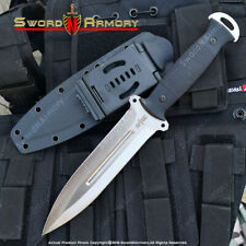 "12"" Tactical Combat Knife 8CR13MOV Steel Fixed Blade G10 Handle Kydex Sheath"