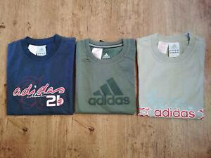 Adidas T-Shirt Set Boys Black Beige Green/Khaki Offer Children Sport New