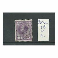 Suriname 5B  Willem III 1873 VFU/gebr  CV 10 €